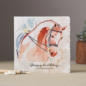 Happy Birthday (Dressage) Cards (1 Design)