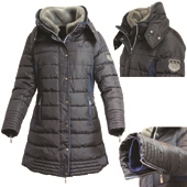Ladies Deluxe Long Padded Coat