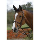 Square Raised Padded Bridle with Flash Noseband