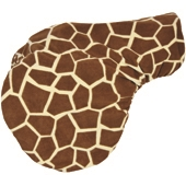 Fleece Saddle Cover Giraffe Print